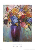 Purple Vase Prints by Dawna Barton