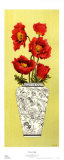 Chinois Poppy Print by Judy Shelby