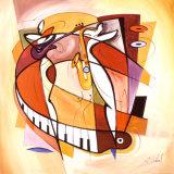 Wailing on the Sax Plakaty autor Alfred Gockel