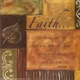 Words to Live By: Faith Poster by Debbie DeWitt