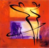 Rumba en rouge I|Rhumba in Red I Affiches par Alfred Gockel