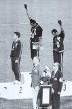 Sympathisants des Black Panthers aux Jeux Olympiques, 1968 Photographie