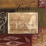 Words to Live By: Truth Poster by Debbie DeWitt