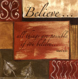 Words to Live By: Believe Print by Debbie DeWitt