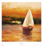 Majorcan Sail II Art by Adam Rogers