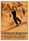 St. Moritzer Skirennen Affiches