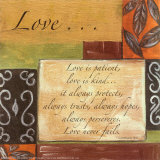 Words to Live By: Love Psters por Debbie DeWitt