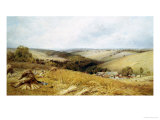 A Hot Day in the Harvest Field Giclee Print by William W. Gosling