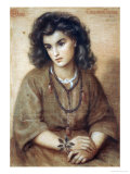 Calliope Coronio, Dated 1869 Poster by Dante Gabriel Rossetti