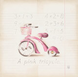 Pink Tricycle Prints by Lauren Hamilton