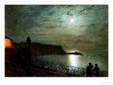 John Atkinson Grimshaw - Scarborough by Moonlight from the Steps of the Grand Hotel Digitálně vytištěná reprodukce