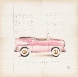 Pink Car Print by Lauren Hamilton
