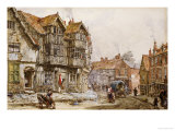 Old Houses, Shrewsbury Prints by Louise J. Rayner