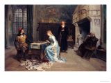 Fernando and Iolanda Playing Chess Premium Giclee Print by Girolamo Induno