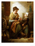 The Dropped Stitch, 1893 Giclee Print by Alfred Fowler Patten