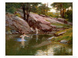 The Swimming Hole Giclee Print by Edward Henry Potthast