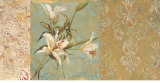 Garden of Damask Lilies Print by Matina Theodosiou
