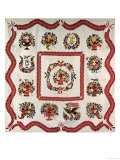Fine and Important Appliqued and Stuffed Album Quilt 90 X 90in, Baltimore, MD, 1850 Giclee Print by Mary Evans