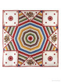 A Cotton Quilted Coverlet, 1850 Giclee Print by Anna Chambers Deacon