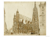 St Stephen&#39;s Cathedral, Vienna Giclee Print by Rudolph von Alt