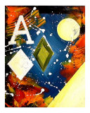 Abstract Ace of Diamonds Giclee Print by Teo Alfonso