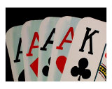 4 Aces Giclee Print by Teo Alfonso