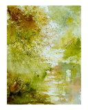 Watercolor Landscape  211005 Giclee Print by Pol Ledent