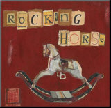 Rocking Horse Mounted Print by Katherine &amp; Elizabeth Pope
