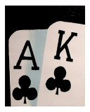 Ace King Poker Giclee Print by Teo Alfonso
