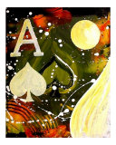 Abstract Ace of Spades Giclee Print by Teo Alfonso
