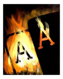 Blazing Pocket Aces on Fire Giclee Print by Teo Alfonso