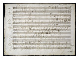 Sheet Music by Mozart: Six Contre Danses Giclee Print