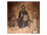 Christ Enthroned with Constantine XI and Empress Zoe Giclee Print