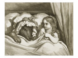 Little Red Riding Hood Giclee Print by Gustave Doré