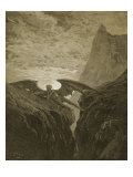Satan Resting on the Mountain Giclee Print by Gustave Doré