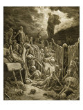 The Visions of Ezekial Reproduction procédé giclée par Gustave Doré
