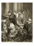 Buyers and Sellers Driven Out of the Temple Giclee Print by Gustave Doré