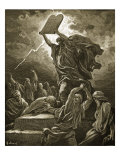Moses Breaking the Tablets of the Law Giclee Print by Gustave Doré