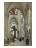 Interieur de la Cathedrale de Sens Giclee Print by Jean-Baptiste-Camille Corot