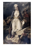 Greece Expiring Giclee Print by Eugene Delacroix