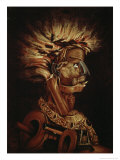 The Fire Giclee Print by Giuseppe Arcimboldo