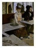 In a Cafe (The Absinthe) Giclée-tryk af Edgar Degas