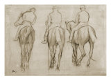 Jockeys Reproduction proc&#233;d&#233; gicl&#233;e par Edgar Degas