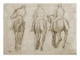 Jockeyer Giclée-tryk af Edgar Degas