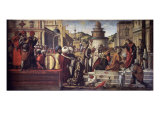 St. George Baptizes King Aio and Queen Silene Giclee Print by Vittore Carpaccio