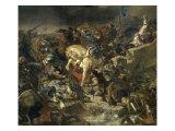 La Bataille de Taillebourg Reproduction procédé giclée par Eugene Delacroix