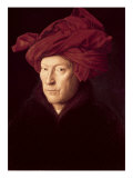 Portrait of a Man in a Turban Giclee Print by Jan van Eyck 