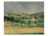 Valley of Mount St. Victoire Giclee Print by Paul Cézanne