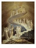 Jaakobin tikapuut Giclee-vedos tekijänä William Blake