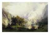 View of Rocky Mountains Giclee Print by Albert Bierstadt